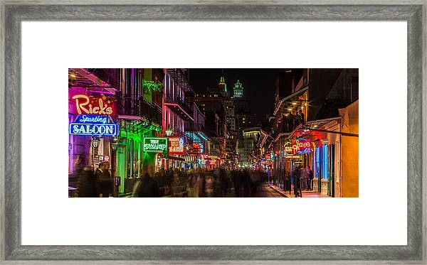Midnight On Bourbon Street Framed Print