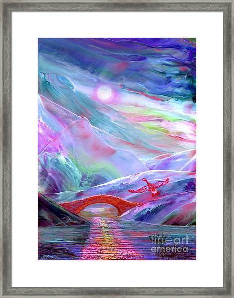 Midnight Silence, Flying Goose Framed Print