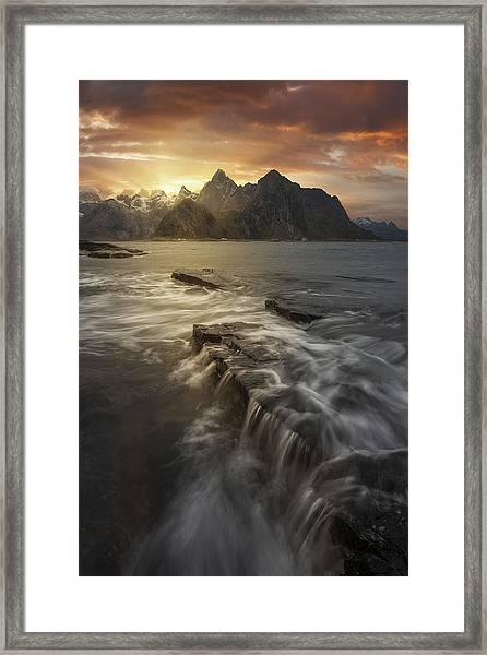 Midnight Sun II Framed Print by David Mart?n Cast?n