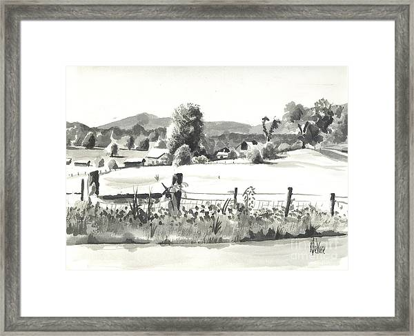Midsummer View Out Route Jj   No I101 Framed Print