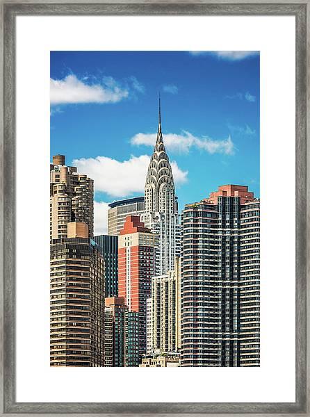 Midtown Manhattan, New York City, Usa Framed Print