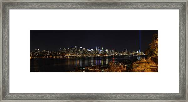 Midtown Manhattan To The Tribute Lights Framed Print