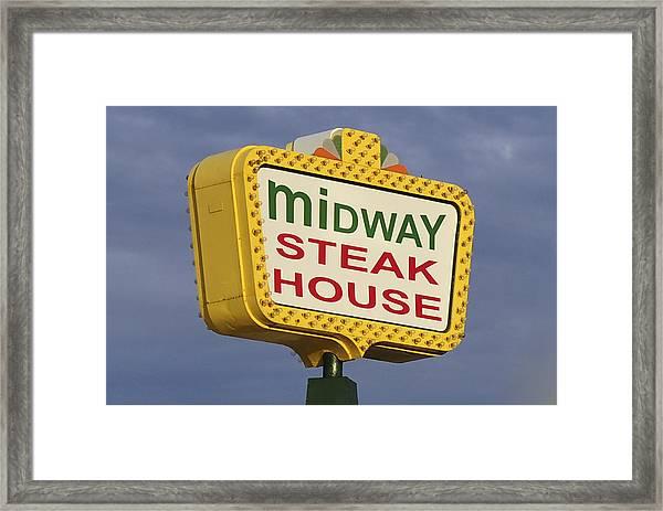 Midway Seaside Heights Boardwalk Nj Framed Print