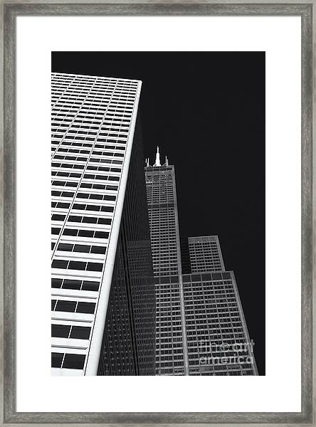 Midwest Monolith Framed Print