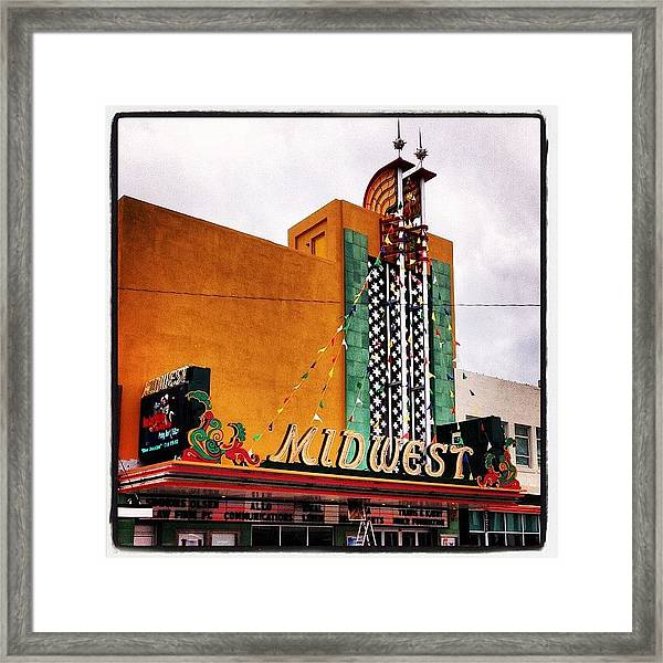 Midwest Theater  Scottsbluff Ne Framed Print