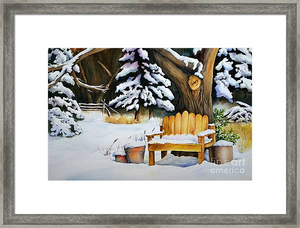 Midwest Winter Framed Print