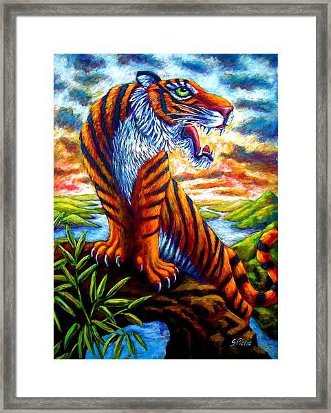 Mighty Tigress Framed Print