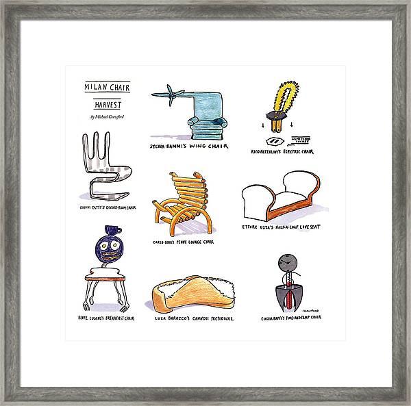 Milan Chair Harvest Framed Print