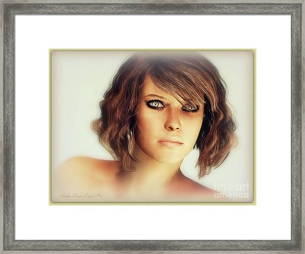 Milan Framed Print by Sandra Bauser Digital Art