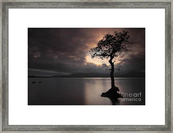 Milarrochy Bay Sunset Framed Print