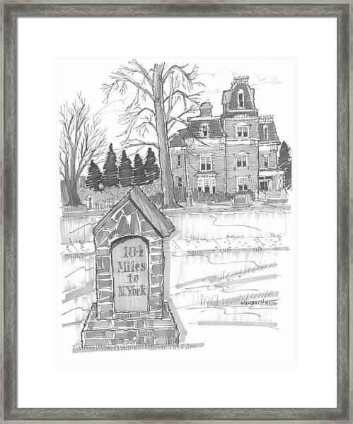 Mile Marker And Victorian Framed Print