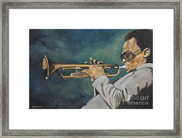 Miles Davis - Solo Framed Print
