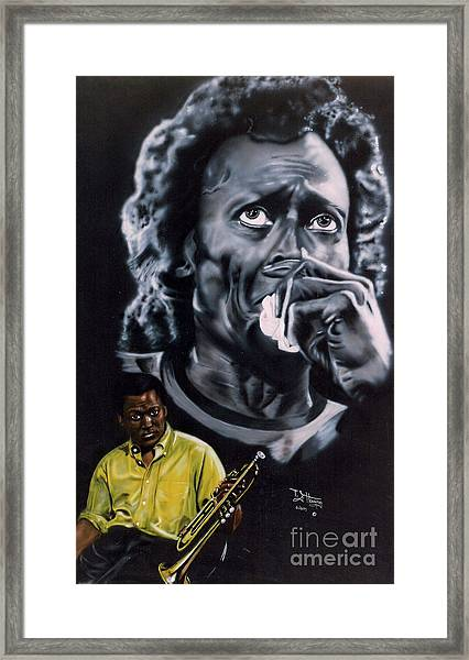 Miles Davis Jazz King Framed Print