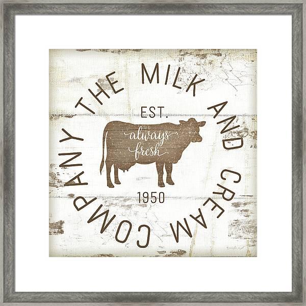 Milk And Cream Company II Framed Print