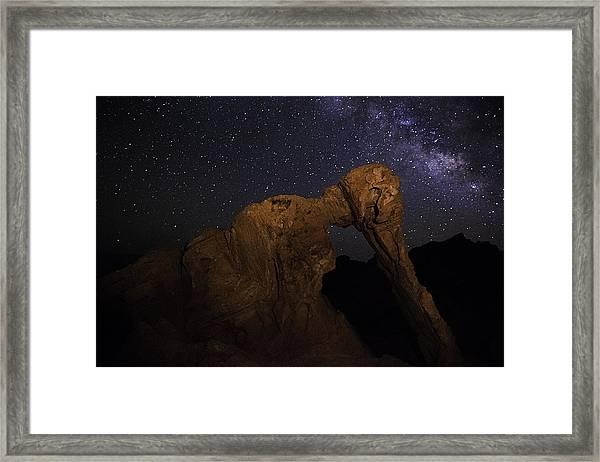 Milky Way Over The Elephant 2 Framed Print