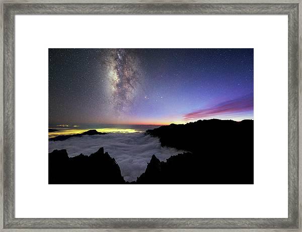 Milky Way Above La Palma Framed Print by Babak Tafreshi