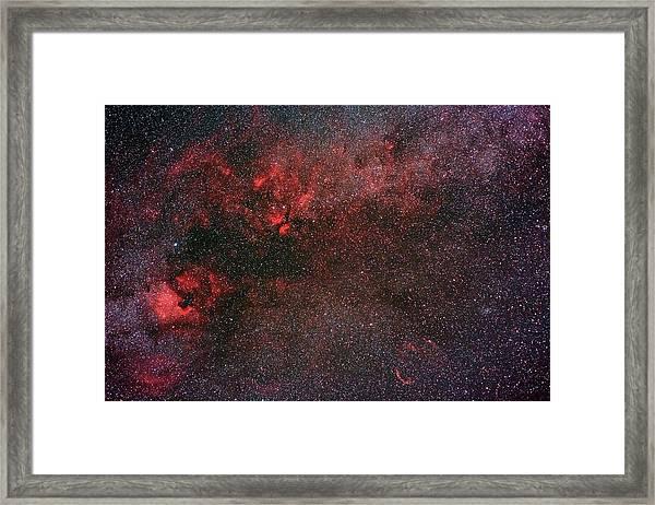 Milky Way And Cygnus Framed Print by Babak Tafreshi