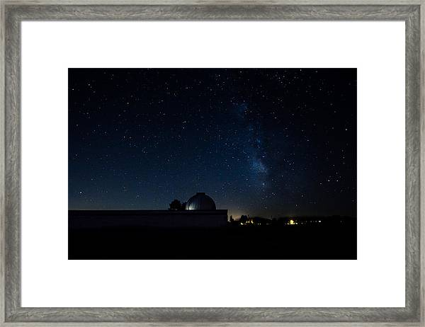 Milky Way And Observatory Framed Print
