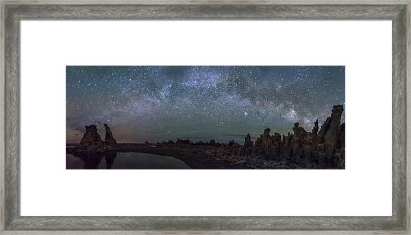 Milky Way At Mono Lake Framed Print