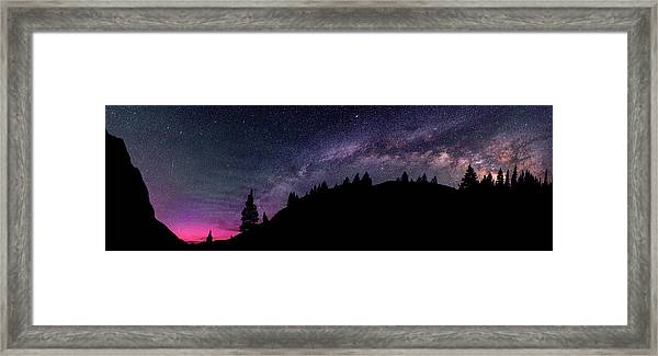 Milky Way In Grizzly Valley Framed Print by Photo By Matt Payne Of Durango, Colorado