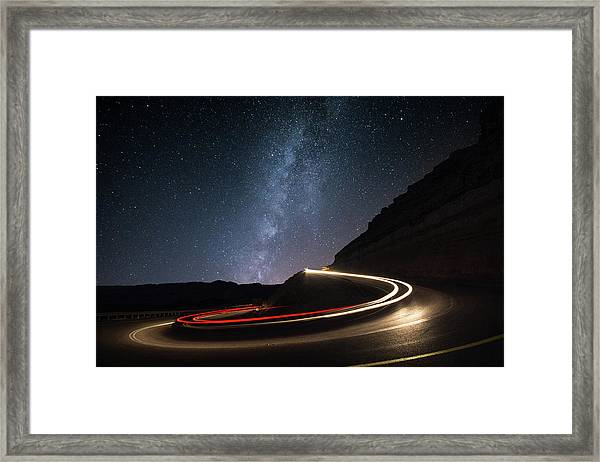Milky Way Over Mitzpe Ramon Framed Print
