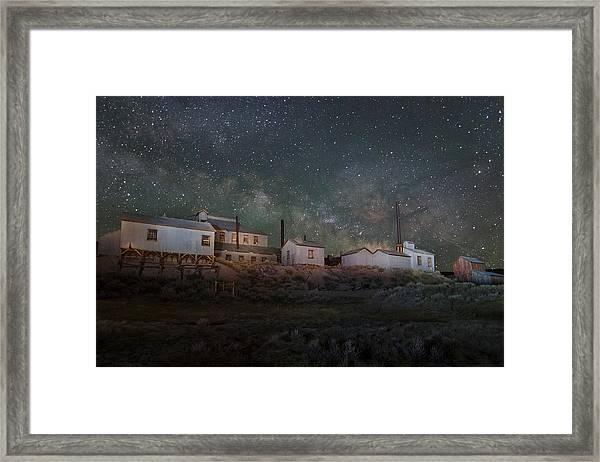 Milky Way Over Standard Mill Framed Print