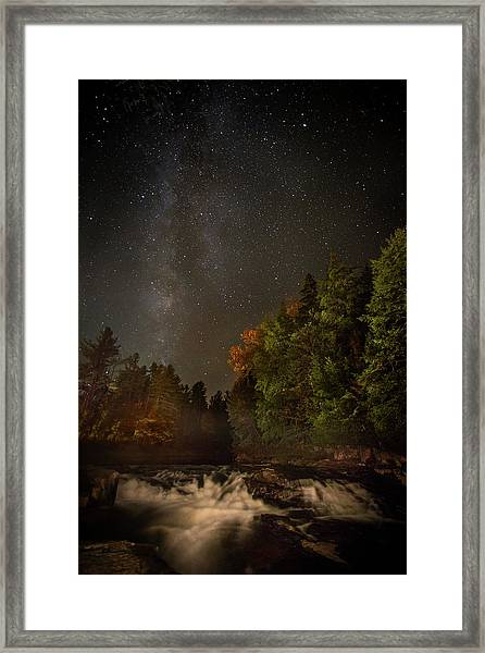 Milky Way Over The Adirondacks Framed Print