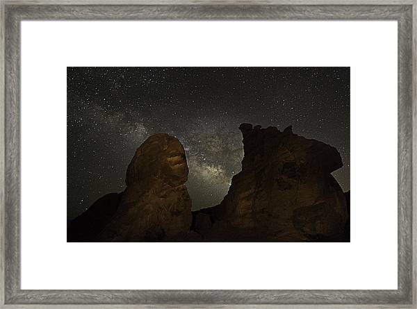 Milky Way Over The Seven Sisters 3 Framed Print