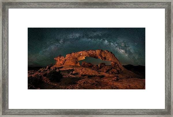 Milky Way Over The Sunset Arch Framed Print