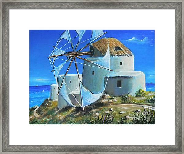 Mill On The Hill Framed Print