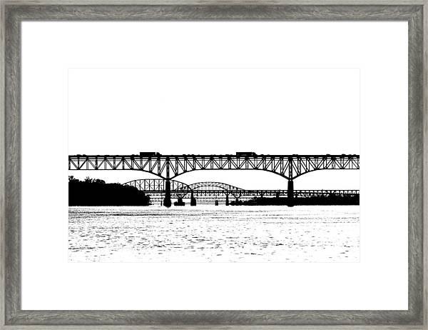 Framed Print featuring the photograph Millard Tydings Memorial Bridge by William Jobes