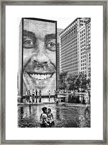 Millenium Park Smile Framed Print