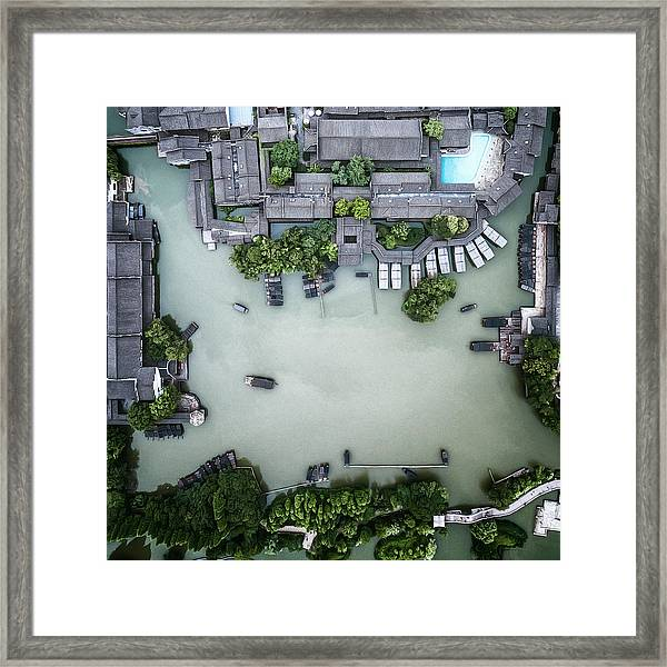 Millennium Ancient Town Framed Print