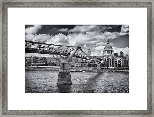 Millennium Bridge - St Pauls Cathedral Framed Print