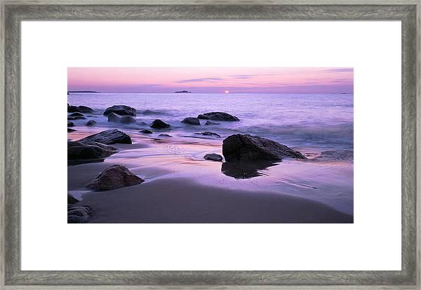 Millennium Sunrise Singing Beach Framed Print