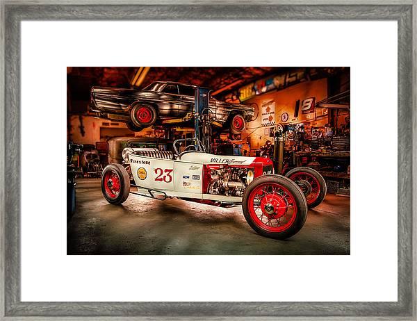 Millers Chop Shop Track T Toyota Framed Print