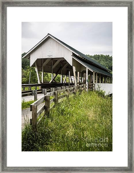Millers Run Covered Bridge Framed Print