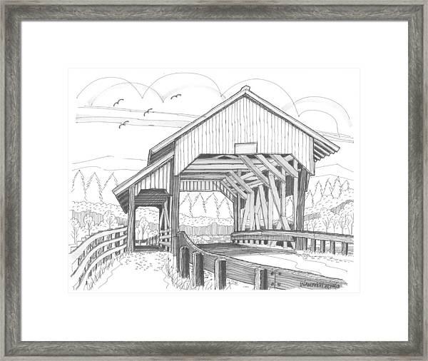 Miller's Run Covered Bridge Framed Print
