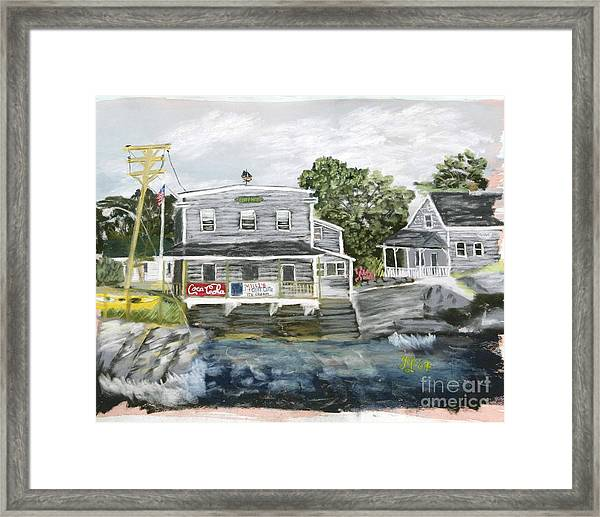 Millie's Cafe Framed Print