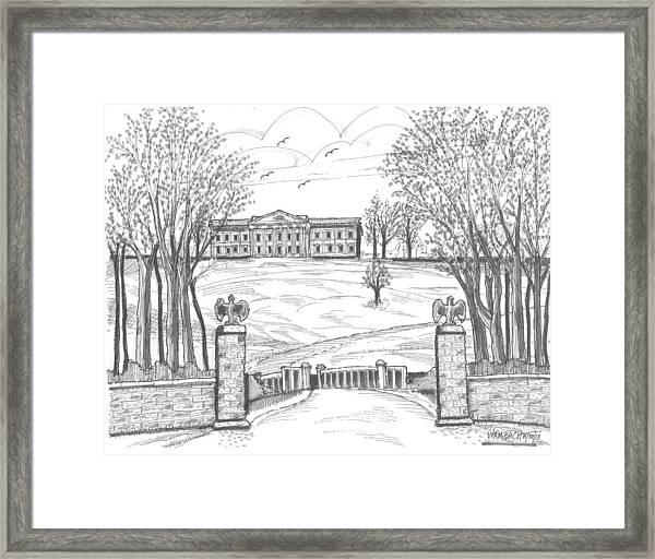 Mills Mansion Staatsburg Framed Print