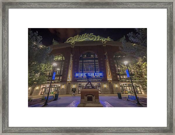 Milwaukee Brewers Miller Park 2 Framed Print