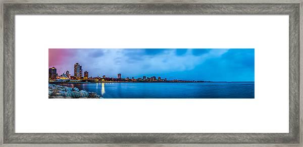 Milwaukee Skyline - Version 2 Framed Print