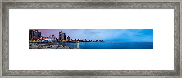 Milwaukee Skyline - Version 1 Framed Print