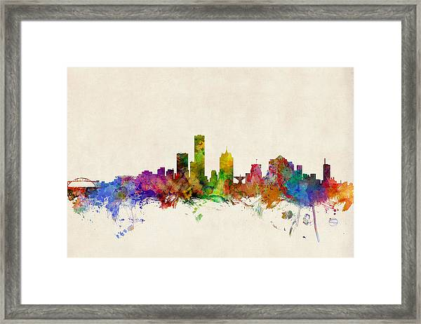 Milwaukee Wisconsin Skyline Framed Print