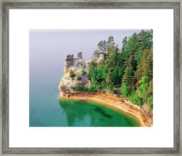 Miners Castle In Pictured Rocks Framed Print