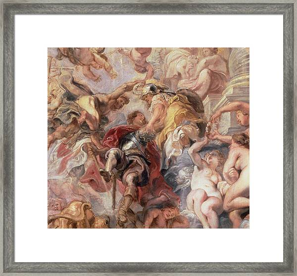 Minerva And Mercury Conduct The Duke Of Buckingham Framed Print