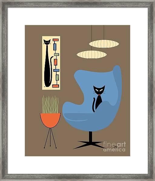 Mini Rectangle Cat Framed Print
