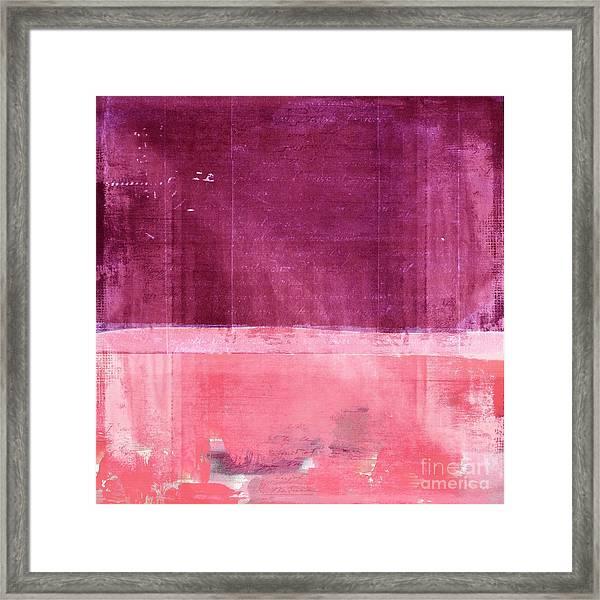 Minima - S02b Pink Framed Print