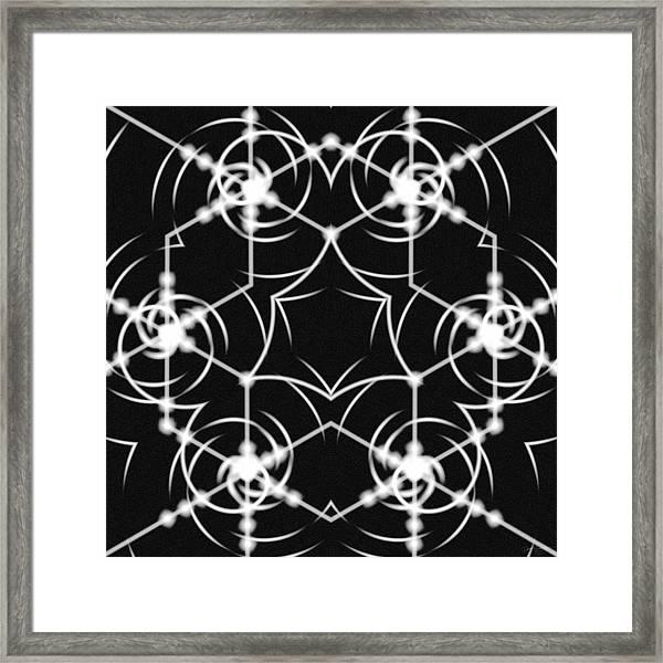 Minimal Life Vortex Framed Print