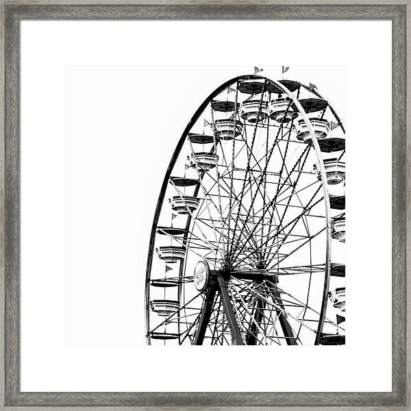 Minimalist Ferris Wheel - Square Framed Print